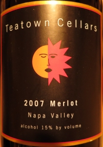 Teatown Cellars 2007 Merlot